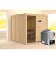 KARIBU Sauna »Valga«, inkl. 9 kW Bio-Kombi-Saunaofen mit externer Steuerung für 3 Personen-Thumbnail