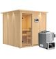 KARIBU Sauna »Valga«, inkl. 9 kW Bio-Kombi-Saunaofen mit externer Steuerung für 4 Personen-Thumbnail
