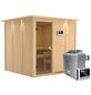 KARIBU Sauna »Valga«, inkl. 9 kW Saunaofen mit externer Steuerung für 4 Personen-Thumbnail