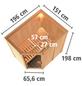 KARIBU Sauna »Vijandi«, inkl. 9 kW Bio-Kombi-Saunaofen mit externer Steuerung für 3 Personen-Thumbnail