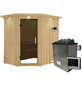 KARIBU Sauna »Vijandi«, inkl. 9 kW Saunaofen mit externer Steuerung für 3 Personen-Thumbnail