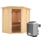 KARIBU Sauna »Vijandi«, inkl. 9 kW Saunaofen mit integrierter Steuerung für 3 Personen-Thumbnail