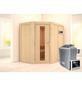 KARIBU Sauna »Vijandi«, mit Ofen, externe Steuerung-Thumbnail