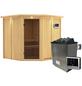 KARIBU Sauna »Vöru«, inkl. 9 kW Saunaofen mit externer Steuerung für 4 Personen-Thumbnail