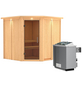 KARIBU Sauna »Vöru«, mit Ofen, integrierte Steuerung-Thumbnail