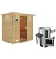 KARIBU Sauna »Welonen«, BxTxH: 224 x 160 x 160 cm, 3,6 kw, Plug&Play-Saunaofen, ext. Steuerung-Thumbnail