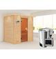 KARIBU Sauna »Welonen«, inkl. 3.6 kW Plug&Play-Saunaofen mit externer Steuerung für 3 Personen-Thumbnail