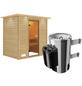 KARIBU Sauna »Welonen«, inkl. 3.6 kW Plug&Play-Saunaofen mit integrierter Steuerung für 3 Personen-Thumbnail