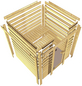 KARIBU Sauna »Welonen« mit Ofen, externe Steuerung-Thumbnail