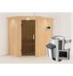 KARIBU Sauna »Wenden«, inkl. 3.6 kW Plug&Play-Saunaofen mit externer Steuerung für 3 Personen-Thumbnail