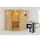 KARIBU Sauna »Wenden«, mit Ofen, externe Steuerung-Thumbnail