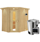 KARIBU Sauna »Wenden« mit Ofen, externe Steuerung-Thumbnail