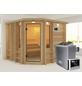 KARIBU Sauna »Windau«, BxTxH: 264 x 253 x 253 cm, 9 kw, Saunaofen, ext. Steuerung-Thumbnail