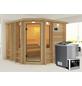 KARIBU Sauna »Windau«, inkl. 9 kW Bio-Kombi-Saunaofen mit externer Steuerung für 4 Personen-Thumbnail