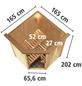 KARIBU Sauna »Wolmar«, BxTxH: 165 x 165 x 165 cm, 3,6 kw, Plug&Play-Saunaofen, int. Steuerung-Thumbnail
