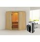 KARIBU Sauna »Wolmar«, inkl. 3.6 kW Plug&Play-Saunaofen mit integrierter Steuerung für 3 Personen-Thumbnail