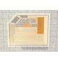 WEKA Saunabank »Querliege 2«, BxL: 52x111 cm-Thumbnail