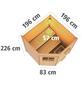 KARIBU Saunahaus »Bauske«, BxTxH: 196 x 196 x 226 cm, 9 kW Ofen mit int. Steuerung-Thumbnail