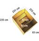 WOODFEELING Saunahaus »Birka 1«, B x T: 231 x 273 cm, mit Ofen, externe Steuerung-Thumbnail
