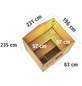 WOODFEELING Saunahaus »Birka 1«, BxTxH: 231 x 196 x 235 cm, 9 kW Ofen mit int. Steuerung-Thumbnail