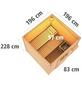 KARIBU Saunahaus »Doblen«, BxTxH: 196 x 196 x 228 cm, 9 kW Bio-Kombi-Ofen mit int. Steuerung-Thumbnail