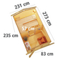 KARIBU Saunahaus »Goldingen«, BxTxH: 231 x 273 x 235 cm, 9 kW Ofen mit int. Steuerung-Thumbnail