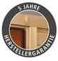 WOODFEELING Saunahaus »Jana«, BxTxH: 196 x 146 x 228 cm, 9 kW Ofen mit ext. Steuerung-Thumbnail
