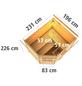 KARIBU Saunahaus »Kreslau«, BxTxH: 231 x 196 x 226 cm, 9 kW Ofen mit ext. Steuerung-Thumbnail