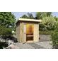 WOLFF FINNHAUS Saunahaus »Lenja«, BxTxH: 232 x 226 x 226 cm, 9 kW Ofen mit int. Steuerung-Thumbnail