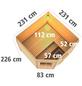KARIBU Saunahaus »Ludsen«, BxTxH: 231 x 231 x 226 cm, 9 kW Ofen mit int. Steuerung-Thumbnail