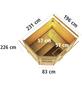 WOODFEELING Saunahaus »Mayla«, BxTxH: 231 x 196 x 226 cm, 9 kW Ofen mit ext. Steuerung-Thumbnail