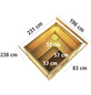 WOODFEELING Saunahaus »Nella«, BxTxH: 231 x 196 x 238 cm, 9 kW Ofen mit int. Steuerung-Thumbnail