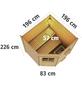WOODFEELING Saunahaus »Pirva«, BxTxH: 196 x 196 x 226 cm, 9 kW Ofen mit int. Steuerung-Thumbnail
