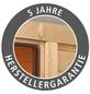 KARIBU Saunahaus »Schwanenburg 1«, B x T: 337 x 196 cm, mit Ofen, externe Steuerung-Thumbnail