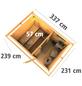 KARIBU Saunahaus »Schwanenburg 2«, BxTxH: 337 x 231 x 239 cm, 9 kW Bio-Kombi-Ofen mit ext. Steuerung-Thumbnail