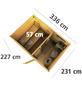 KARIBU Saunahaus »Schwanenburg 2«, BxTxH: 337 x 231 x 239 cm, 9 kW Ofen mit ext. Steuerung-Thumbnail