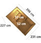 KARIBU Saunahaus »Schwanenburg 3«, BxTxH: 393 x 231 x 239 cm, 9 kW Ofen mit int. Steuerung-Thumbnail