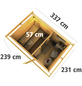 WOODFEELING Saunahaus »Suva 2«, BxTxH: 337 x 231 x 239 cm, 9 kW Ofen mit int. Steuerung-Thumbnail