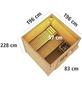 WOODFEELING Saunahaus »Taina«, B x T: 196 x 196 cm, mit Ofen, externe Steuerung-Thumbnail
