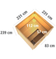 KARIBU Saunahaus »Talsen«, BxTxH: 231 x 231 x 239 cm, 9 kW Ofen mit ext. Steuerung-Thumbnail