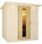KARIBU Saunatür, LxBxH: 3,8 x 64 x 173 cm, mit Isolierglas, für 38 mm und 40 mm Saunen-Thumbnail