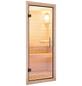KARIBU Saunatür, natur transparent, geeignet für: Wandstärken von 68 mm, natur transparent-Thumbnail