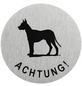 """SEILFLECHTER Schild, """"Achtung Hund"""", BxH: 7,5 x 7,5 cm-Thumbnail"""