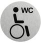"""SEILFLECHTER Schild, """"Behinderten WC"""", BxH: 7,5 x 7,5 cm-Thumbnail"""