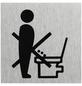 "SEILFLECHTER Schild, ""Bitte hinsetzen"", BxH: 6 x 6 cm-Thumbnail"