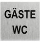 """SEILFLECHTER Schild, """"Gäste WC"""", BxH: 6 x 6 cm-Thumbnail"""