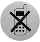 """SEILFLECHTER Schild, """"Handy ausschalten"""", BxH: 7,5 x 7,5 cm-Thumbnail"""