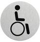 """SEILFLECHTER Schild, """"Rollstuhlfahrer"""", BxH: 7,5 x 7,5 cm-Thumbnail"""