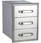 Schubladensystem, Stahl, silberfarben, BxHxT: 38,5 x 53 x 58,5 cm-Thumbnail