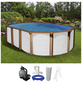 Schwimmbecken »OFB SdL «, oval, BxLxH: 370 x 610 x 130 cm-Thumbnail